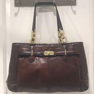 Coach Brown Chelsea Leather Jayden Bag